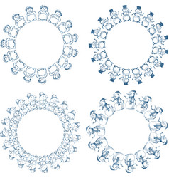 image set decorative round frames from vector image