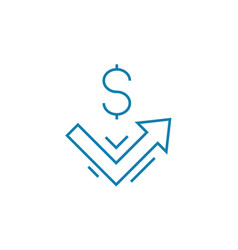 income dynamics linear icon concept income vector image