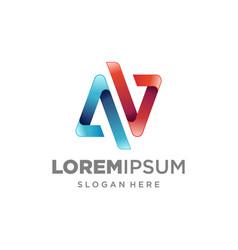 Letter av logo icon design template elements vector
