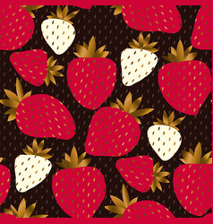 luxury elegant strawberry seamless pattern vector image