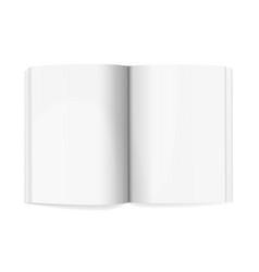 magazine spread mockup template realistic vector image