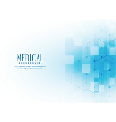Medical science background in blue color vector