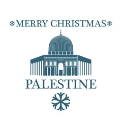 Merry christmas palestine vector