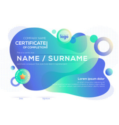 modern certificate completion template vector image