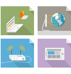 Modern technology concepts Design elements vector