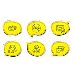 no smoking checkbox and education idea icons set vector image