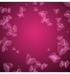 Pink Pattern with Heart vector image