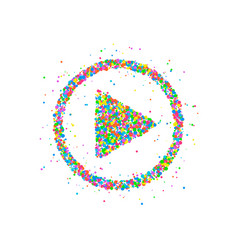Play button icon vector