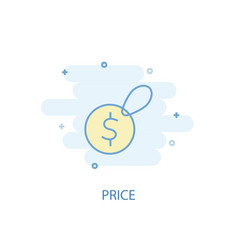price line concept simple line icon colored vector image
