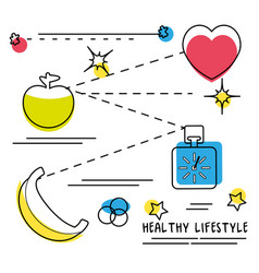 process to carry a good healthy lifestyle vector image