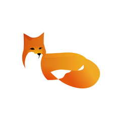 red fox in style vector image