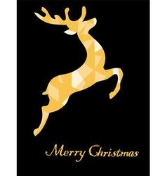Reindeer golden vector