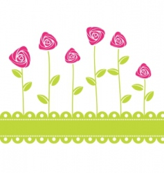 roses card background vector illustration vector image