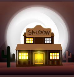 Saloon - art vector