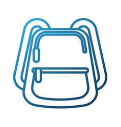 school backpack equipment accessory fashion vector image