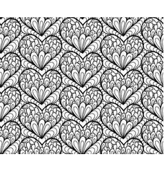 Seamless background hand drawn hearts vector