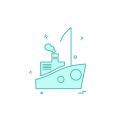 ship icon design vector image