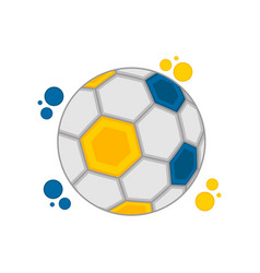 soccer ball with the colors of sweden vector image