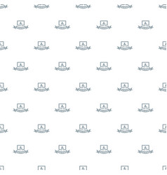 social network pattern seamless vector image