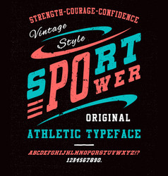 sport power font vector image