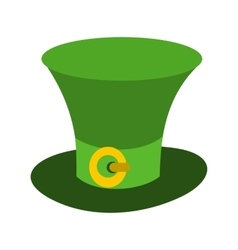 St Patricks Day hat icon vector image