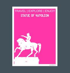 statue of napoleon paris france monument landmark vector image