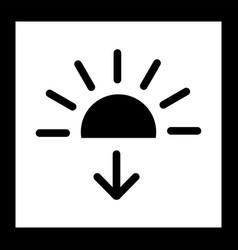 Sundown icon vector