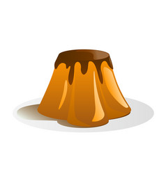 tasty pudding vector image