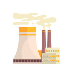 Thermal power station industrial manufactury vector