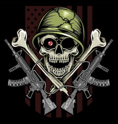 This united states army veterans skull design vector