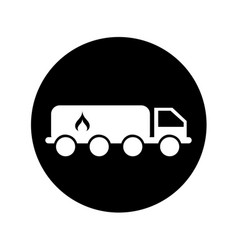 Truck oil transport icon vector