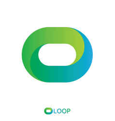 Twisted loop oval letter o logo nature logo vector