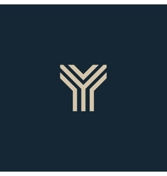 Unusual geometric letter Y Architecture vector