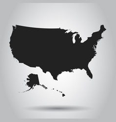 Usa map icon business cartography concept united vector