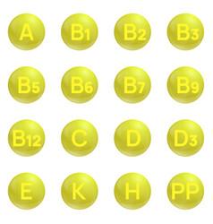 Vitamins icons set vector