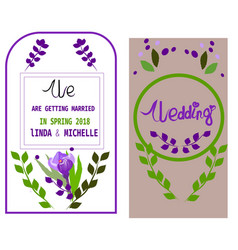wedding invitation thank you card save date vector image