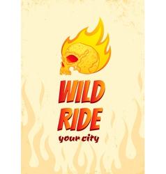 Wild ride vector image