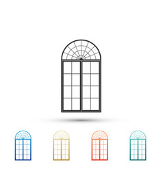window icon isolated on white background vector image