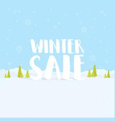 Winter sale words on the beautiful chrismas flat vector