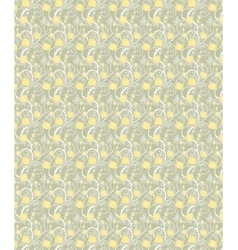 Yellow flowers seamless background vector image