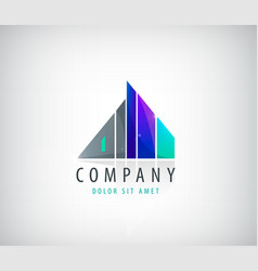 Building logo company icon vector
