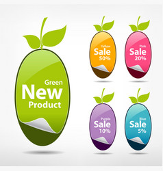 Collections sticker price tag vector image vector image
