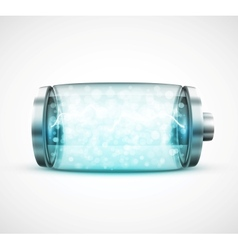 Isolated battery vector image