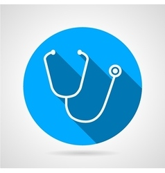 Medical stethoscope flat round icon vector image vector image