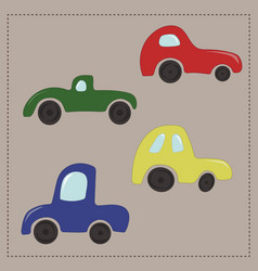 childrens colorful cartoon cars vector image vector image