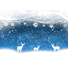 christmas background with deer 2211 vector image