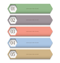 Creative Design template in pastel colors vector image