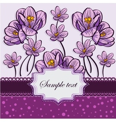 Floral background with crocuses vector image