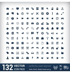 Modern user interface flat mono icons pixels vector image vector image
