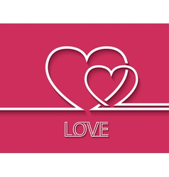 Two heart for greeting card design vector image